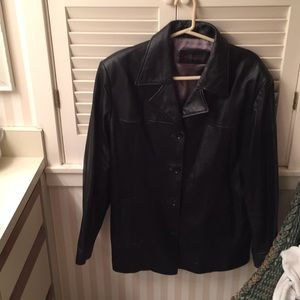Relly Olmes black leather jacket